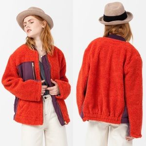 NWOT Free People Rivington Sherpa Jacket sz large